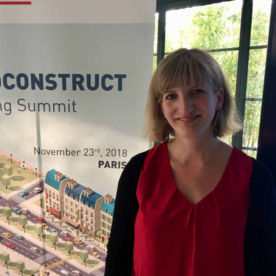 : Julia Bachtrögler at the 86th Euroconstruct Conference in Paris (Photo: WIFO).